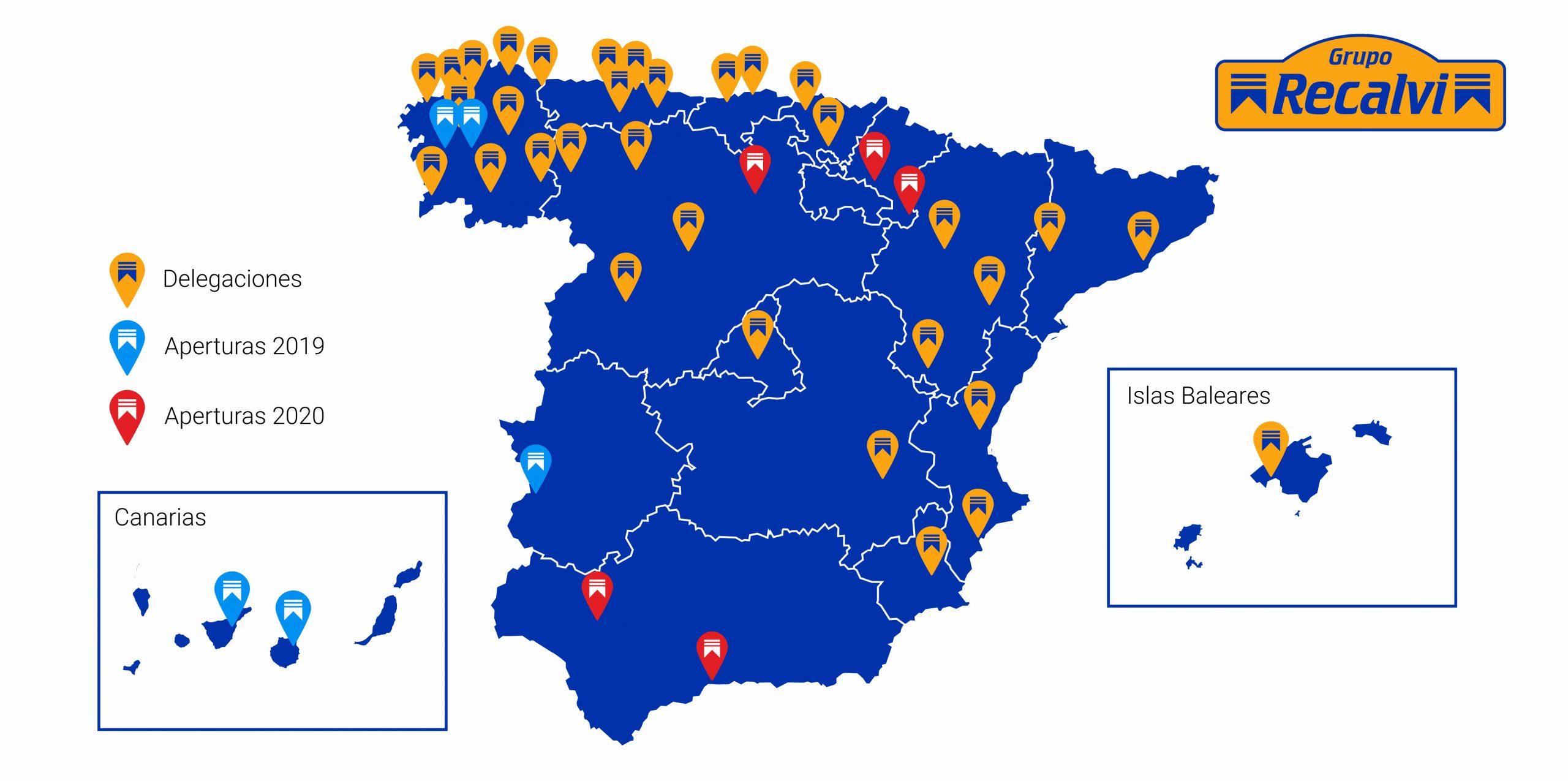 Las nuevas aperturas de Recalvi consolidan la presencia del Grupo en todas las zonas de España