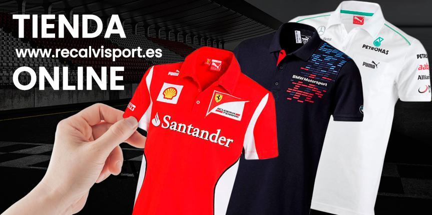 Recalvi lanza su tienda online de merchandising de las principales marcas de competición del motor