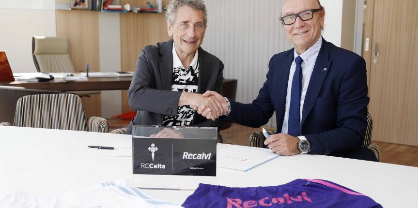 Recalvi vuelve a patrocinar al primer equipo del Celta de Vigo